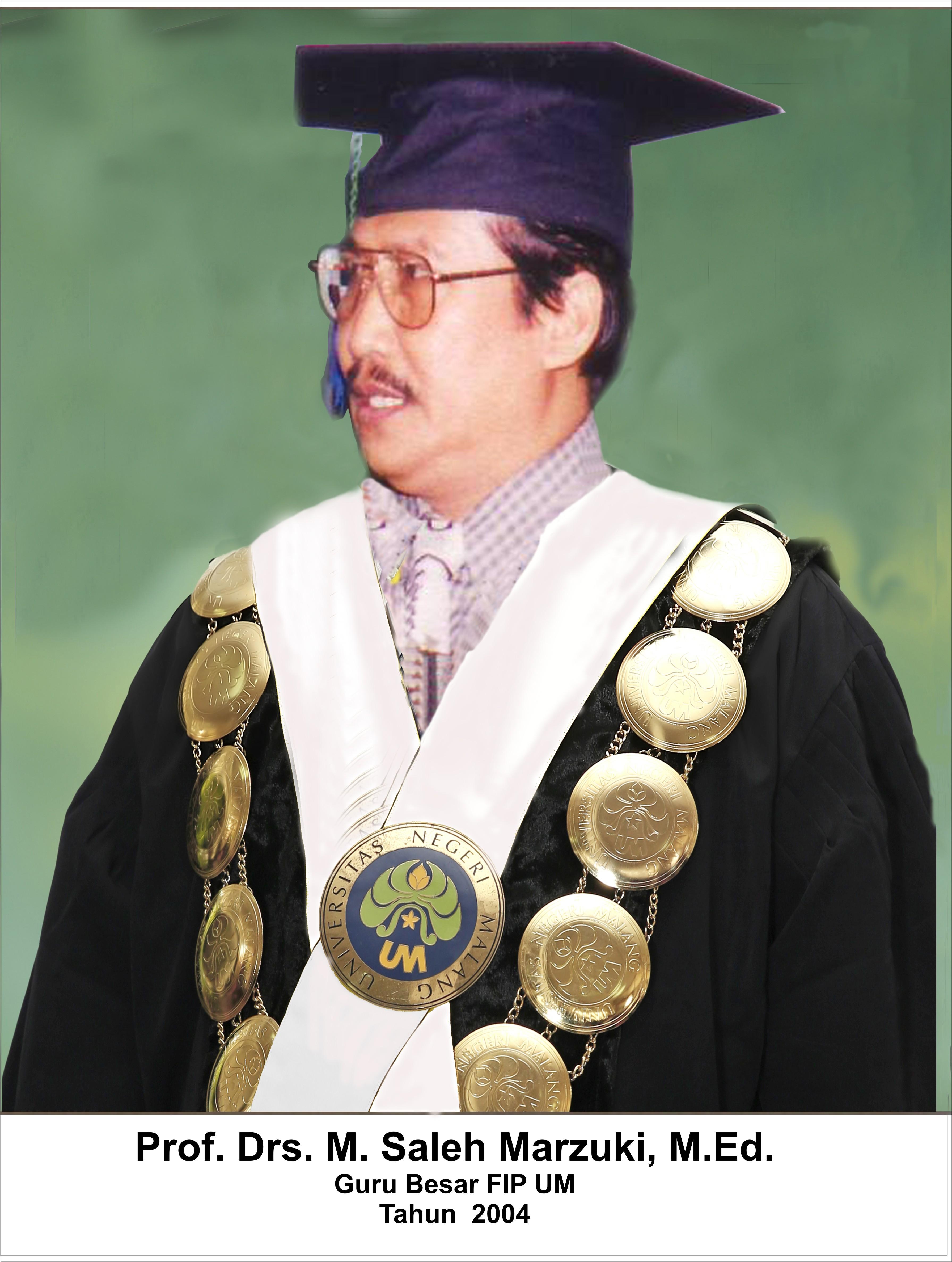 Prof. Drs. H. M. Saleh Marzuki, M.Ed. adalah sesepuh, guru, dan figur penting yang ikut mewarnai perjalanan perguruan tinggi UM
