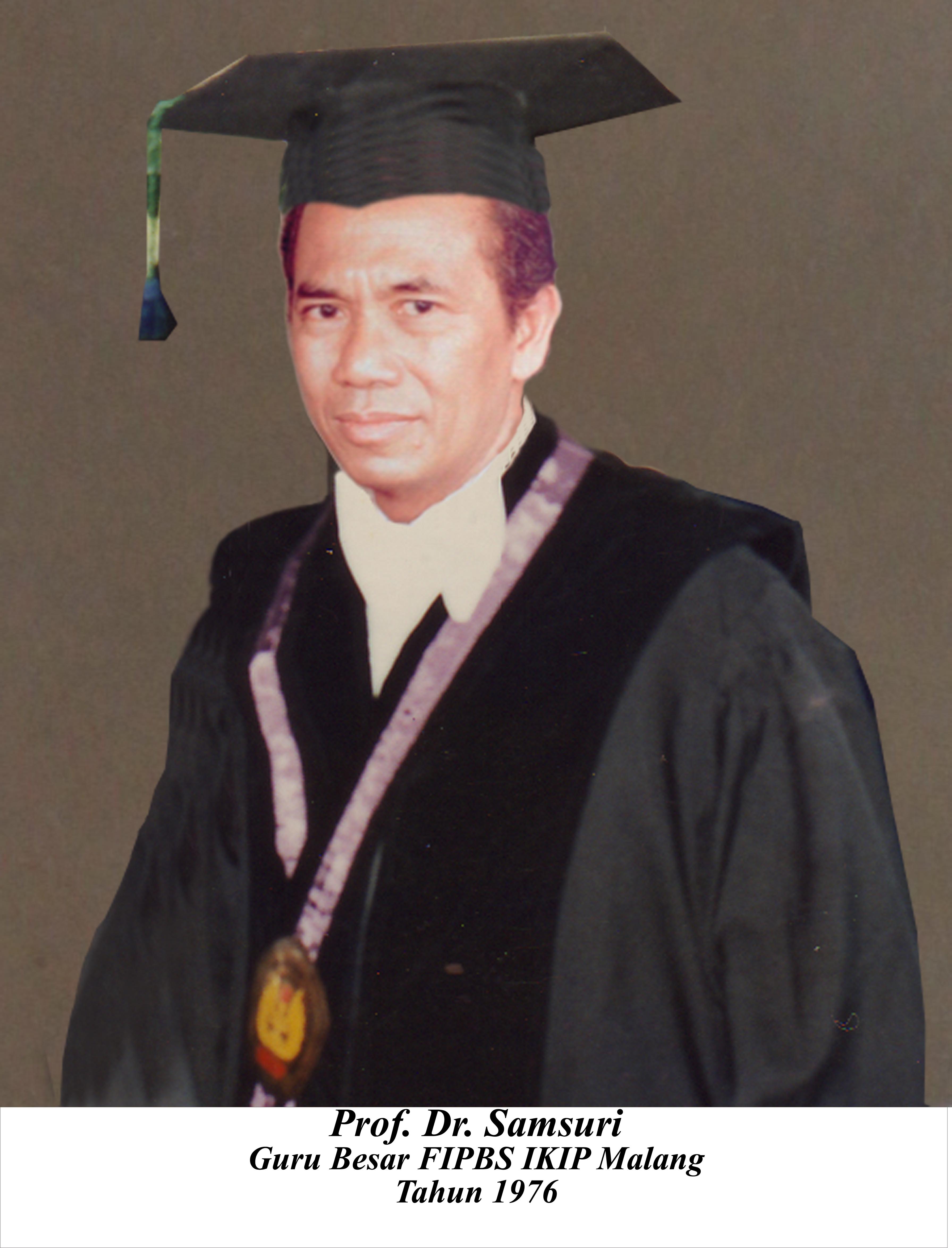 Prof. Samsuri Sebagai begawan linguistik