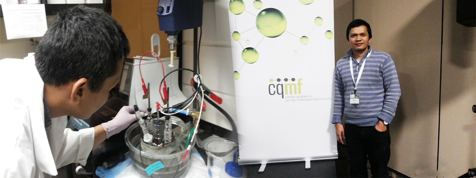 Nandang Mufti, S.Si., M.T, Ph.D, sedang menguji hasil temuannya di Laboratorium