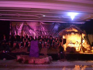 Suasana perayaan Natal yang diadakan oleh KBK UM