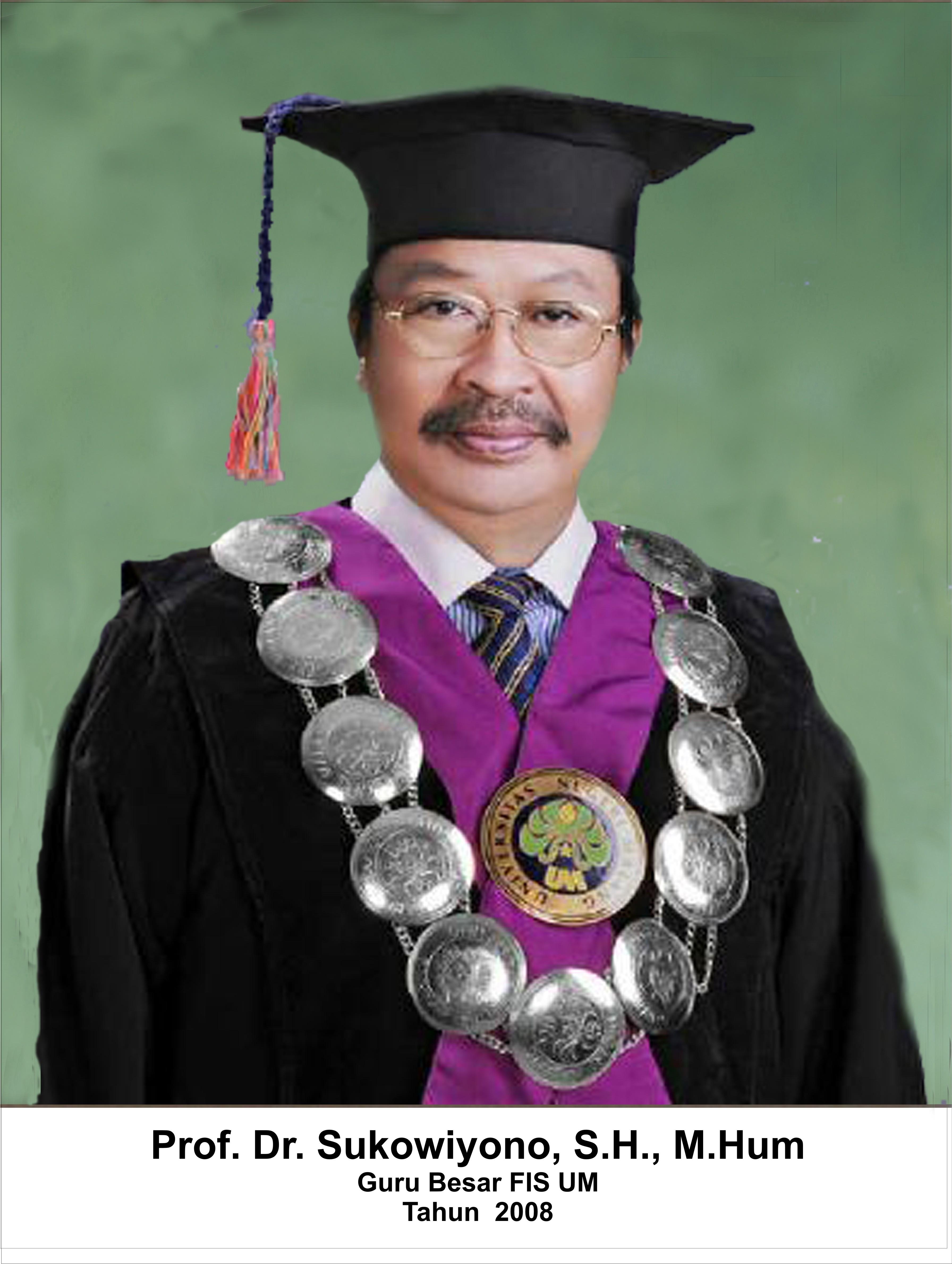 Prof. Dr. Suko Wiyono, S.H. M.Hum