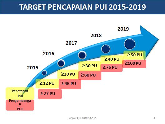 Grafik Target Pencapaian PUI yang direncanakan bakal goal tahun 2019